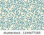 hand drawn ivy and vines in... | Shutterstock .eps vector #1144677185
