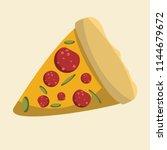 pizza vector illustration    Shutterstock .eps vector #1144679672