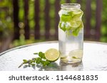 refreshing sugar free beverage... | Shutterstock . vector #1144681835