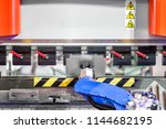 hand robot working automatic... | Shutterstock . vector #1144682195
