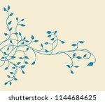 climbing blue ivy vine vector... | Shutterstock .eps vector #1144684625