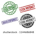 cock potency seal prints with... | Shutterstock .eps vector #1144686848