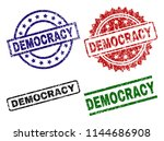 democracy seal prints with... | Shutterstock .eps vector #1144686908
