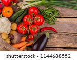 variety of different fresh... | Shutterstock . vector #1144688552