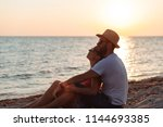 young couple in love enjoying... | Shutterstock . vector #1144693385