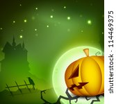 halloween night background with ... | Shutterstock .eps vector #114469375