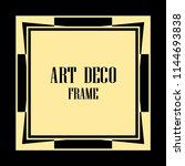 vintage retro invitation in art ... | Shutterstock .eps vector #1144693838