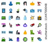 colored vector icon set   fish... | Shutterstock .eps vector #1144700048