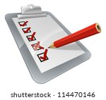 a clipboard with pencil marking ... | Shutterstock .eps vector #114470146