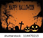 spooky halloween background | Shutterstock .eps vector #114470215