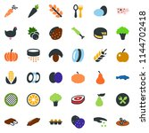 colored vector icon set   spike ... | Shutterstock .eps vector #1144702418