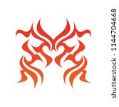 tribal flame decoration. simple ... | Shutterstock .eps vector #1144704668