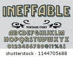 hand drawn typeface set brush... | Shutterstock .eps vector #1144705688