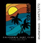 surf graphics for apparel | Shutterstock .eps vector #1144711772