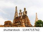 statues of buddhas meditating... | Shutterstock . vector #1144715762