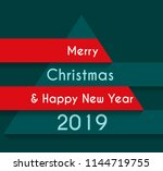 happy new year  greeting card... | Shutterstock .eps vector #1144719755