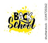 hand sketched back to school... | Shutterstock .eps vector #1144720262