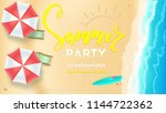 summer party on seascape... | Shutterstock .eps vector #1144722362