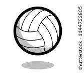 volleyball sport ball logo... | Shutterstock .eps vector #1144723805