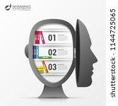 infographic design template.... | Shutterstock .eps vector #1144725065
