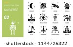 universe icon pack solid style. ... | Shutterstock .eps vector #1144726322