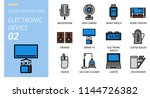 icon pack filled outline style. ... | Shutterstock .eps vector #1144726382
