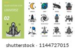 universe icon pack filled... | Shutterstock .eps vector #1144727015