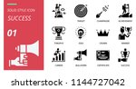 success icon pack solid style.... | Shutterstock .eps vector #1144727042
