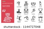 success icon pack outline style.... | Shutterstock .eps vector #1144727048
