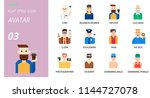 flat icon pack . icons for... | Shutterstock .eps vector #1144727078