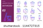 bathroom icon pack gradient... | Shutterstock .eps vector #1144727315