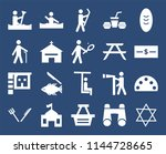 set of 20 simple editable icons ...
