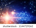 pink glow cyber web online... | Shutterstock . vector #1144729262