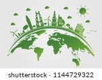 ecology.green cities help the... | Shutterstock .eps vector #1144729322