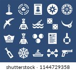 set of 20 icons such as musket  ...