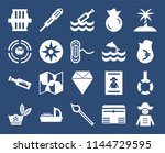 set of 20 icons such as pirate  ...