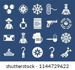set of 20 icons such as cannon  ...