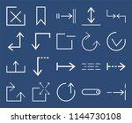 set of 20 icons such as fit ...