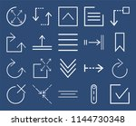 set of 20 icons such as checked ... | Shutterstock .eps vector #1144730348