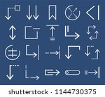set of 20 icons such as tab ...