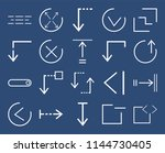 set of 20 icons such as code ...