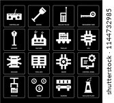 set of 16 icons such as nuclear ...
