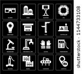 set of 16 icons such as... | Shutterstock .eps vector #1144733108