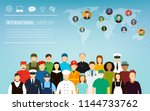people of different occupations....   Shutterstock .eps vector #1144733762