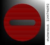 outline minus sign illustration....   Shutterstock .eps vector #1144746092