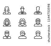 modern flat line people... | Shutterstock .eps vector #1144753598