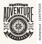 vintage great adventure... | Shutterstock .eps vector #1144759235