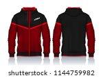 hoodie shirts template.jacket... | Shutterstock .eps vector #1144759982