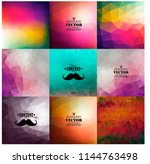 set of nine colorful abstract... | Shutterstock .eps vector #1144763498