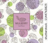 background with mulberry ... | Shutterstock .eps vector #1144763825